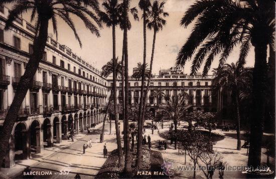 Plaza Real. A. Zerkowitz fotógrafo. Años de 50